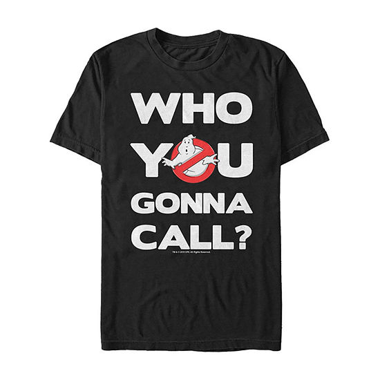 Who You Gonna Call Classic Logo Mens Crew Neck Short Sleeve Ghostbusters Graphic T-Shirt