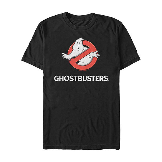 Ghostbusters Classic Logo Title Mens Crew Neck Short Sleeve Ghostbusters Graphic T-Shirt