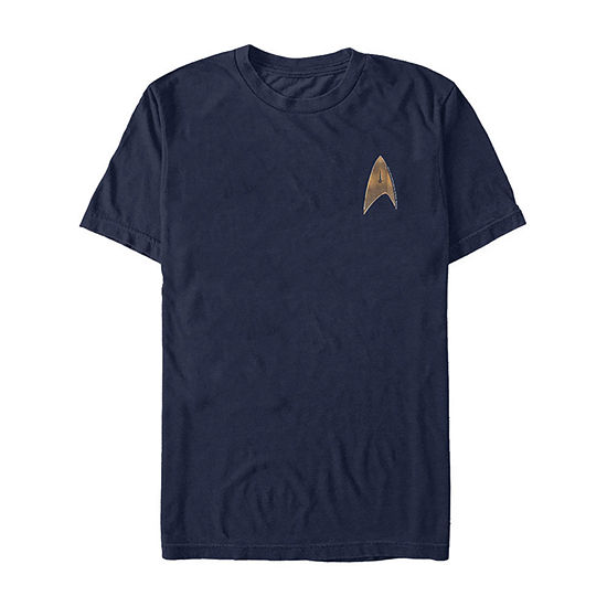 Star Trek Discovery Delta Command Badge Mens Crew Neck Short Sleeve Graphic T-Shirt