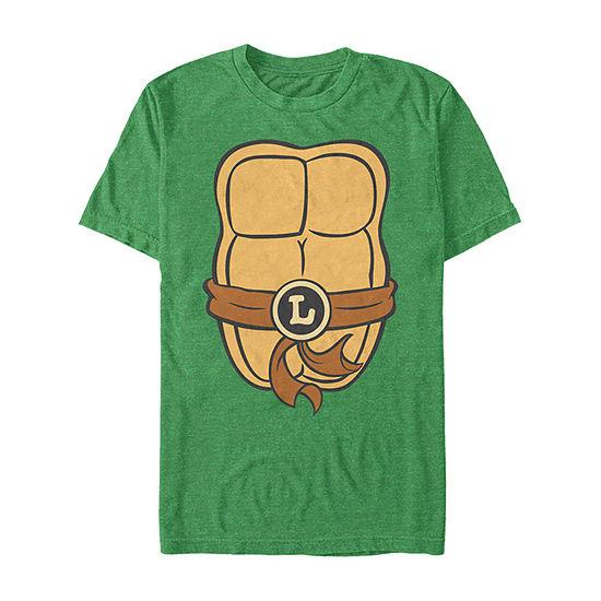Nickelodeon Teenage Mutant Ninja Turtles Leo Shell Mens Crew Neck Short Sleeve Teenage Mutant Ninja Turtles Graphic T-Shirt