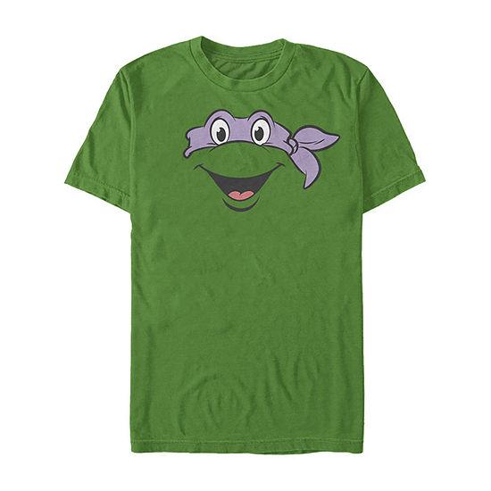 Nickelodeon Teenage Mutant Ninja Turtles Donatello Big Face Costume Mens Crew Neck Short Sleeve Teenage Mutant Ninja Turtles Graphic T-Shirt