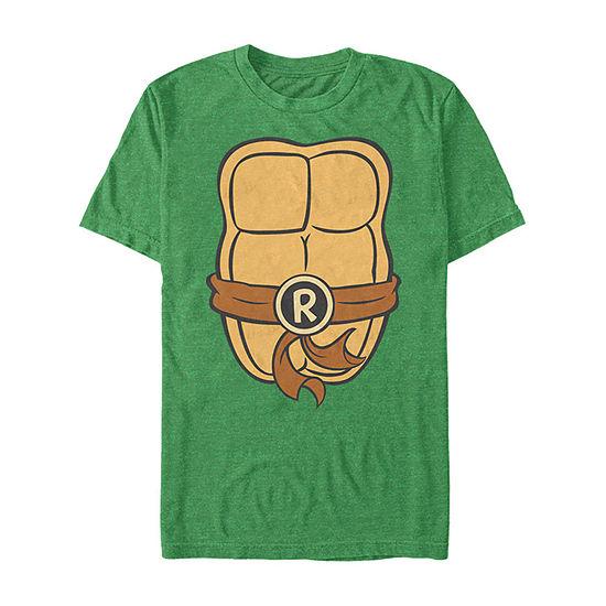 Nickelodeon Teenage Mutant Ninja Turtles Rafael Shell Mens Crew Neck Short Sleeve Teenage Mutant Ninja Turtles Graphic T-Shirt