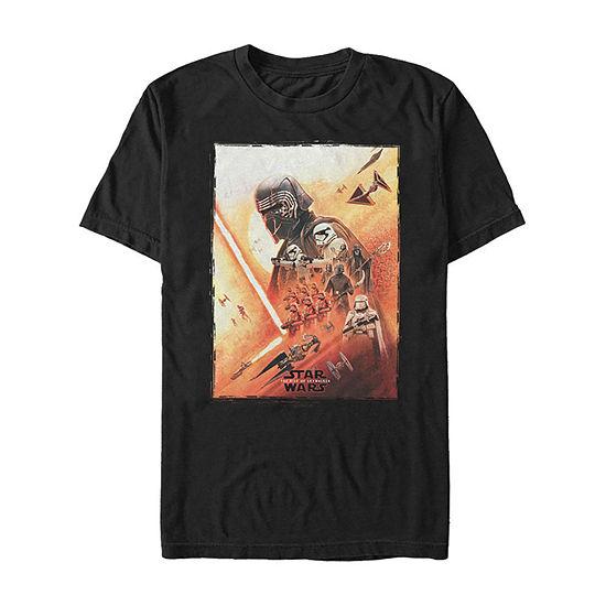 Rise Of Skywalker Kylo Ren Poster Mens Crew Neck Short Sleeve Star Wars Graphic T-Shirt