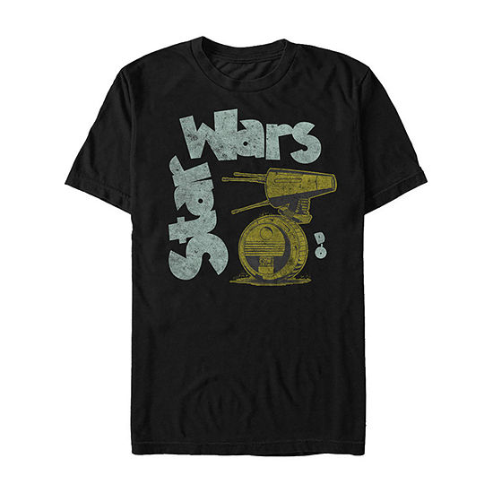 Slim Rise Of Skywalker New Droid Mens Crew Neck Short Sleeve Star Wars Graphic T-Shirt