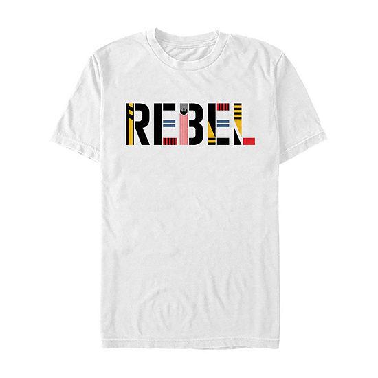 Slim Rise Of Skywalker Rebel Pop Art Mens Crew Neck Short Sleeve Star Wars Graphic T-Shirt