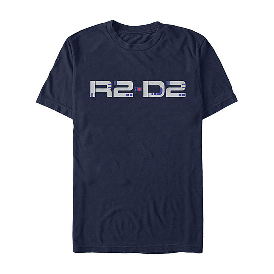 Slim Rise Of Skywalker R2 Droid Text Mens Crew Neck Short Sleeve Star Wars Graphic T-Shirt