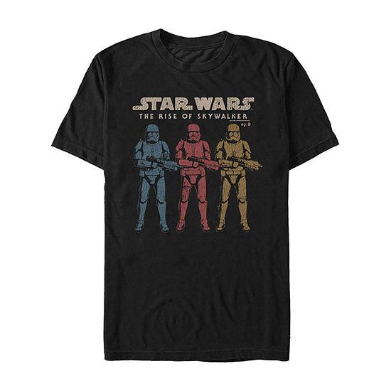 Rise Of Skywalker Color Guards Line Up Mens Crew Neck Short Sleeve Star Wars Graphic T-Shirt-Slim