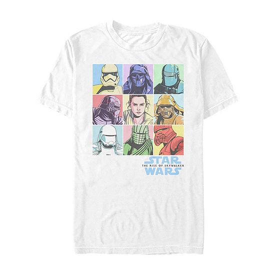 Slim Rise Of Skywalker Pastel Rey Boxes Mens Crew Neck Short Sleeve Star Wars Graphic T-Shirt