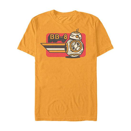 Slim Rise Of Skywalker Bb-8 Retro Drawing Mens Crew Neck Short Sleeve Star Wars Graphic T-Shirt