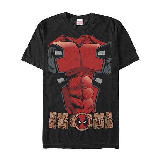 Marvel Deadpool Comic Halloween Costume Mens Crew Neck Short Sleeve Marvel Graphic T-Shirt