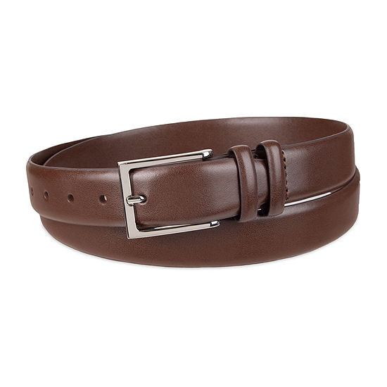 Stafford® Big & Tall Men's Dress Belt with Double Keeper