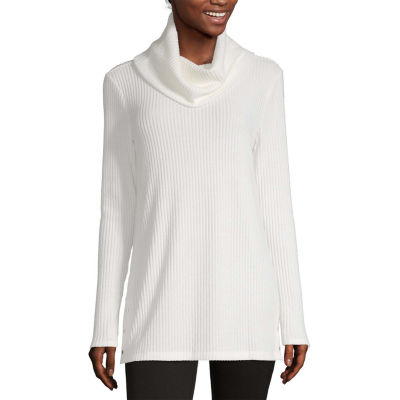 Liz Claiborne Fall 19 Womens Cowl Neck Long Sleeve Knit Blouse