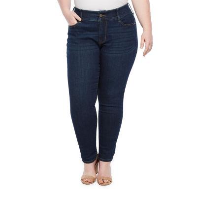 a.n.a Womens Comfort Waist Skinny Fit Jean - Plus