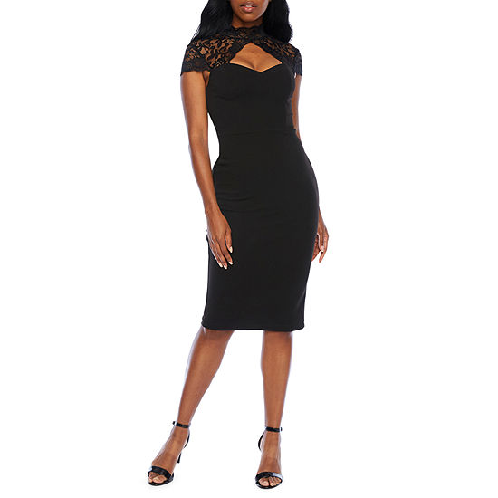 Premier Amour Cap Sleeve Sheath Dress