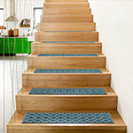 World Rug Gallery Contemporary Trellis Non-Slip Stair Treads (Set Of 4) Rectangular Indoor Stair Treads