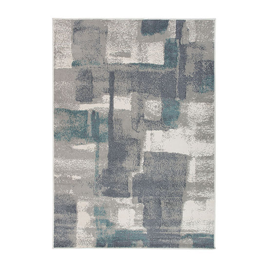 World Rug Gallery Contemporary Geometric Boxes Design Rectangular Indoor Rugs