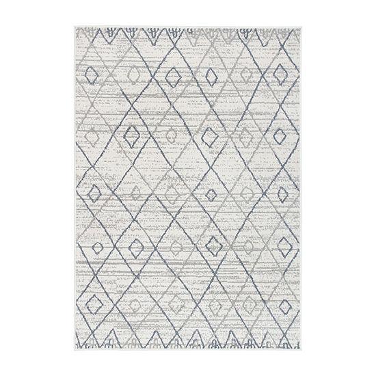 World Rug Gallery Geometric Trellis Bohemian Rectangular Indoor Rugs