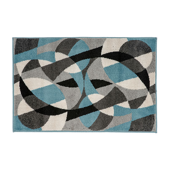World Rug Gallery Modern Geometric Circles Rectangular Indoor Rugs