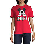 Womens Crew Neck Short Sleeve Mickey Mouse Graphic T-Shirt 2 Pack Gift Set - Juniors