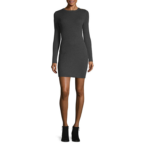 Arizona-Juniors Long Sleeve Bodycon Dress