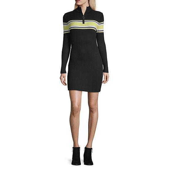 Arizona-Juniors Long Sleeve Bodycon Dress