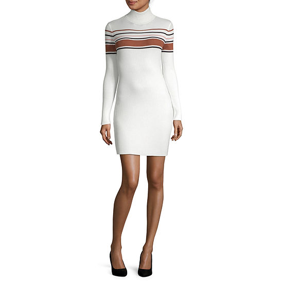 Arizona-Juniors Long Sleeve Sweater Dress