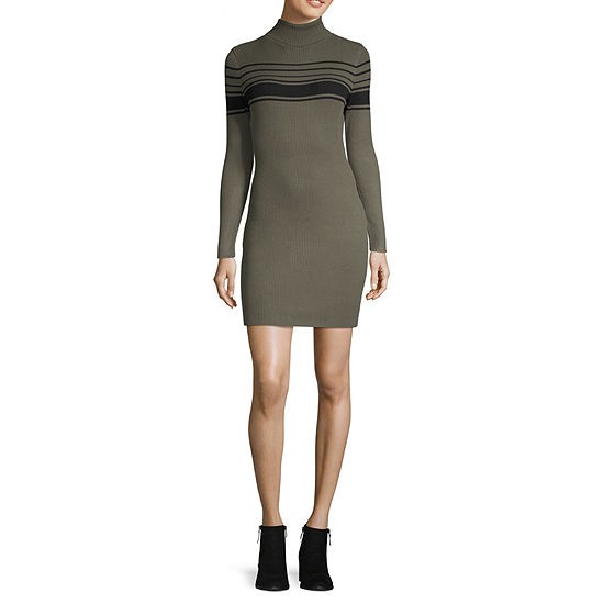 Arizona Long Sleeve Sweater Dress - Juniors