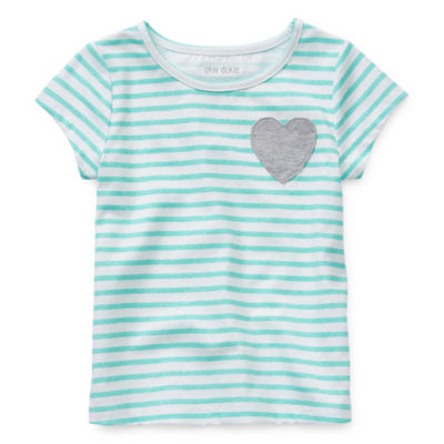 Okie Dokie Girls Round Neck Short Sleeve T-Shirt-Toddler