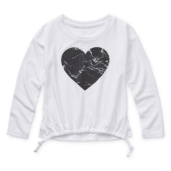 Xersion Girls Round Neck Long Sleeve Graphic T-Shirt-Toddler