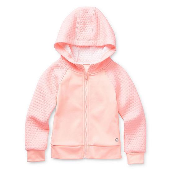 Xersion Girls Raglan Sleeve Hoodie-Toddler