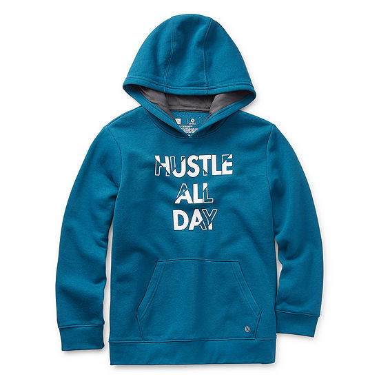 Xersion Cotton Fleece Little & Big Boys Cuffed Sleeve Hoodie