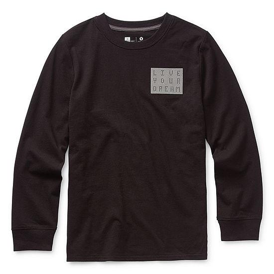 Xersion Little & Big Boys Crew Neck Long Sleeve Graphic T-Shirt