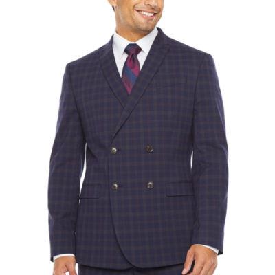 JF J.Ferrar Plaid Slim Fit Stretch Suit Jacket