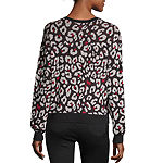 by&by Womens Scoop Neck Long Sleeve Sweater Set-Juniors