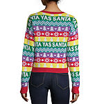 City Streets Womens Crew Neck Long Sleeve Pullover Sweater-Juniors