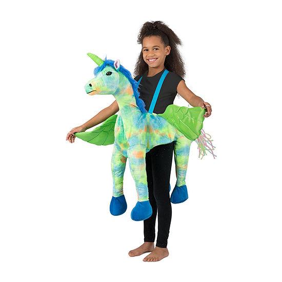 Girls Rainbow Unicorn Ride-In Costume