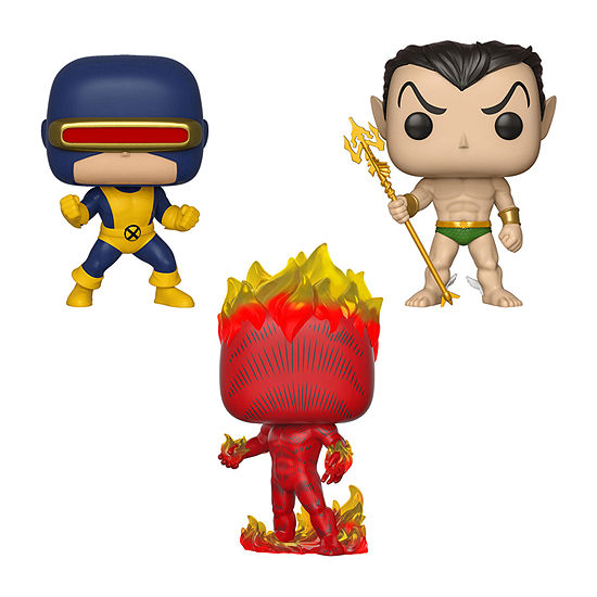 Funko Pop! Marvel First Appearance Collectors Set 1 - Cyclops Namor Human Torch