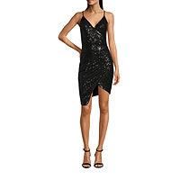 Deals on B. Smart-Juniors Sleeveless High-Low Bodycon Dress