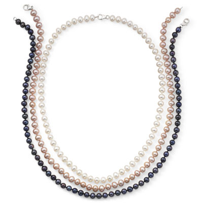 3-Pc. Cultured Freshwater Pearl Strand Necklace Set