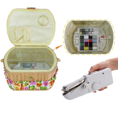 Michley 42-pc. Sewing Basket & Handheld ZDML 2 Sewing Machine