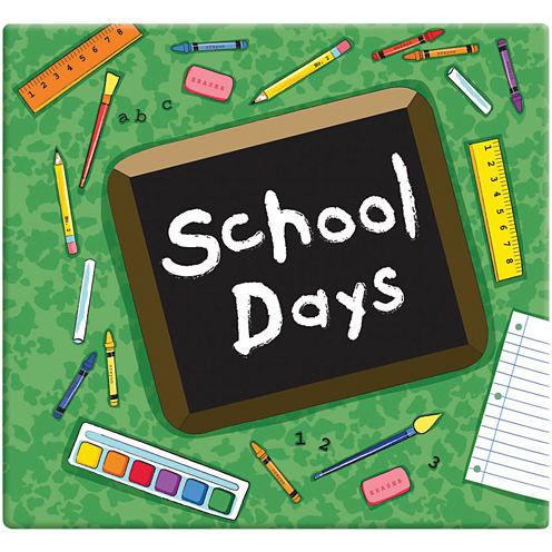 School Days Scrapbook Album - Green