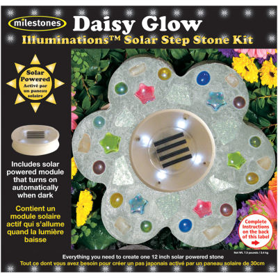 Milestones Daisy Glow Solar Step Stone Kit