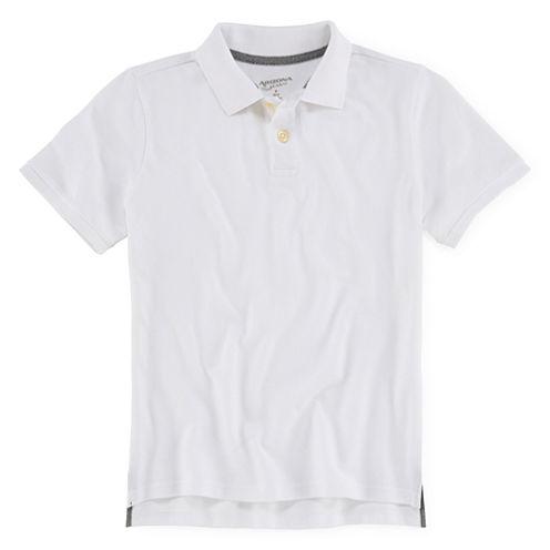 Arizona Short-Sleeve Solid Knit Polo - Boys 8-20
