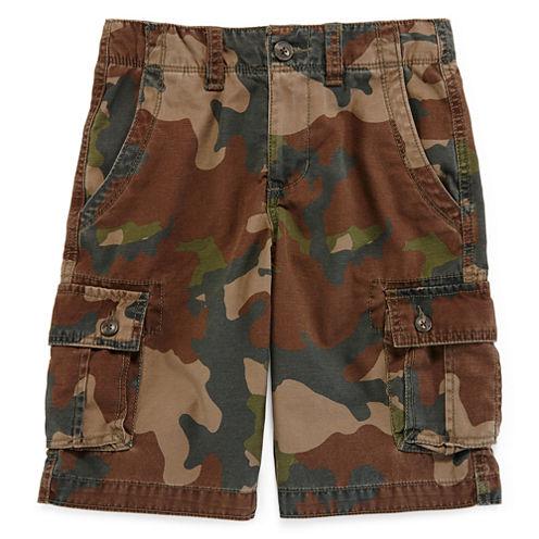 Arizona Twill Camo Cargo Shorts - Boys 8-20, Slim and Husky