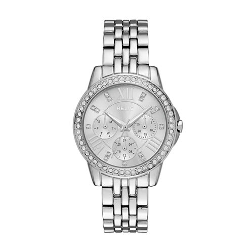 Relic Womens Silver Tone Bracelet Watch-Zr15875