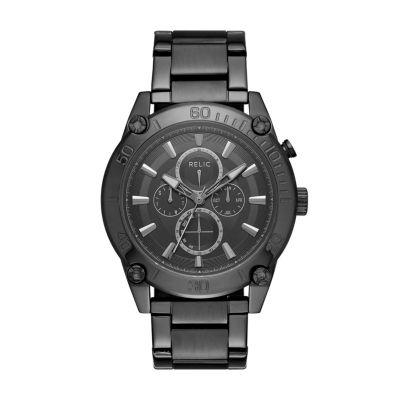 Relic Mens Black Bracelet Watch-Zr15879