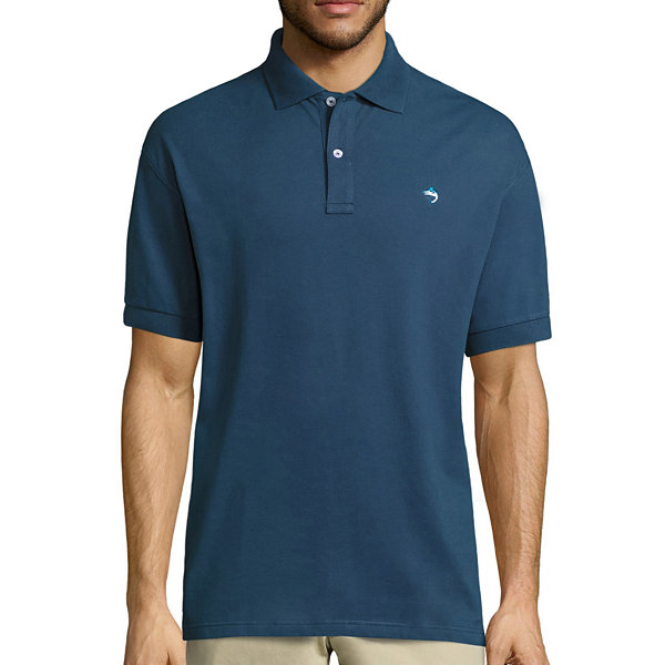 Biscayne bay embroidered short sleeve knit polo shirt jcpenney for Jcpenney ladies polo shirts