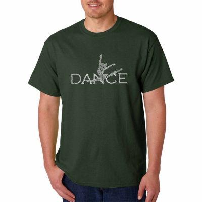Los Angeles Pop Art Dancer Short Sleeve Word Art T-Shirt
