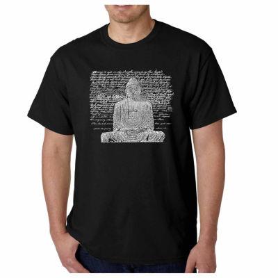 Los Angeles Pop Art Zen Buddha Short Sleeve Word Art T-Shirt