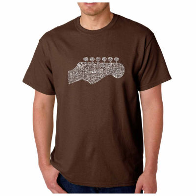 Los Angeles Pop Art Guitar Head Short Sleeve WordArt T-Shirt